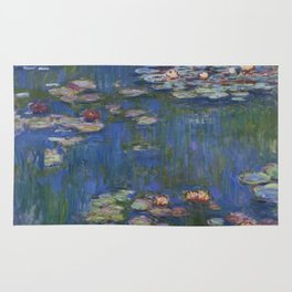 WATER LILIES - CLAUDE MONET Rug