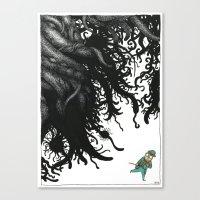 lovecraft Canvas Prints featuring Lovecraft 3 by Erwann Surcouf