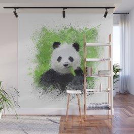 Panda eating bamboo Wall Mural