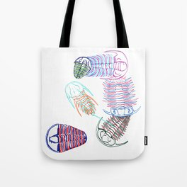 Cambrian Era Trilobites Tote Bag