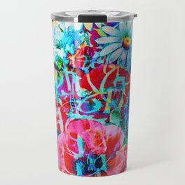 poppies and daisies with asiatic feel Travel Mug