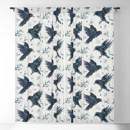 Odin's Ravens Pattern Print Blackout Curtain