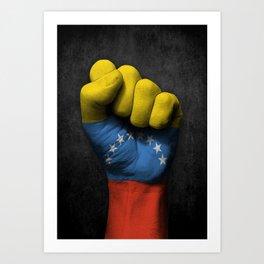 Venezuelan Flag on a Raised Clenched Fist Art Print