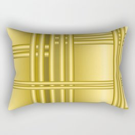 Abstract background with gold bars Rectangular Pillow