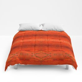 Rustic Orange Geometric Southwestern Pattern - Luxury - Comforter - Bedding - Throw Pillows - Rugs Comforters