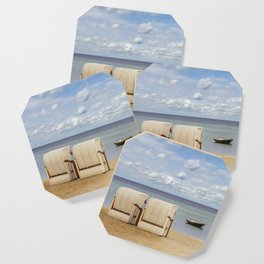 Idyllic Baltic Sea with typical beach chairs Coaster