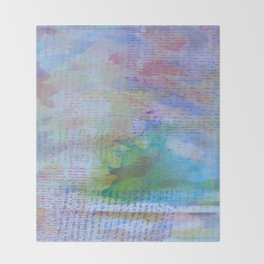 Words and Water Paint 3 Throw Blanket