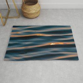 Sunset Ocean Waves Rug