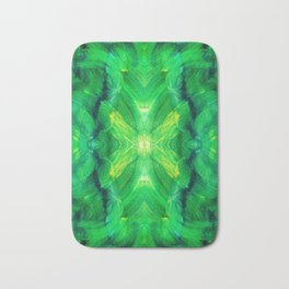 Brush play in hues of green 13 Bath Mat