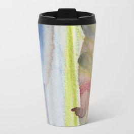 Dusty Pink and Blue Abstract 021 Travel Mug