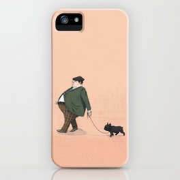 A Man with a Dog iPhone Case