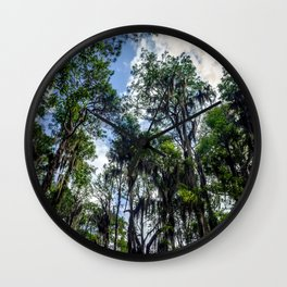 Swamp Trees with Moss Wall Clock