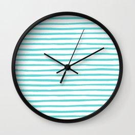 Nautical Stripes Wall Clock