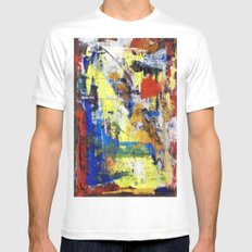 RICHTER SCALE 2 White Mens Fitted Tee MEDIUM