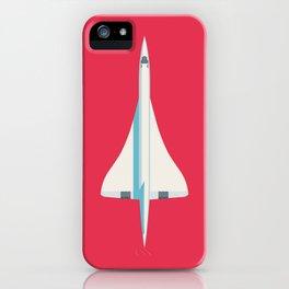 Concorde Supersonic Jet Airliner - Crimson iPhone Case