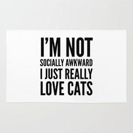 I'm Not Socially Awkward I Just Really Love Cats Rug
