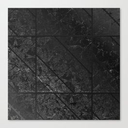 Black Marble Texture G310 Canvas Print
