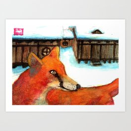 Fox, #1. Art Print