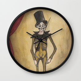 The Living Skeleton Wall Clock