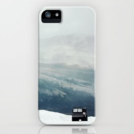 Mountains in Monochrome iPhone Case