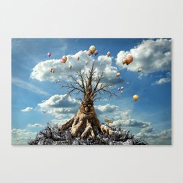 750 years old - happy birthday ! Canvas Print