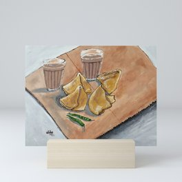 Never hurt a samosa they too had fillings inside by Abha Mini Art Print