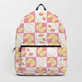Peanut Checkered Pattern Backpack