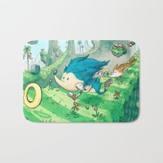 Starring Sonic and Miles 'Tails' Prower (Blue Version) Bath Mat
