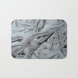 Snow Covered Tree Bath Mat