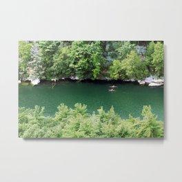 Kayaking the Mohonk Reserve Metal Print