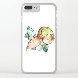 Racing Whale Clear iPhone Case