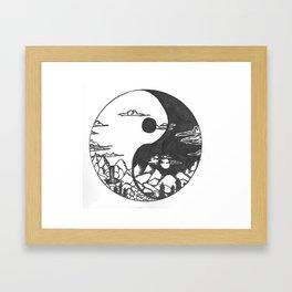 yin and yang and nature Framed Art Print