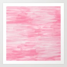Chic Pink Watercolor Abstract Art Print