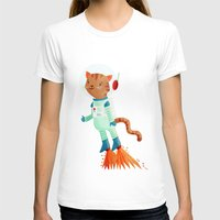 space cat T-shirts featuring Space Cat by Stephanie Fizer Coleman