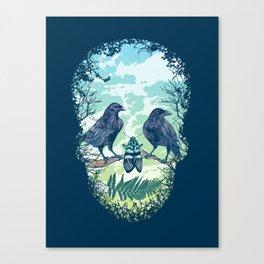 Nature's Skull Canvas Print