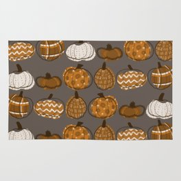 Pumpkin Party in Nougat Rug
