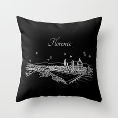 Florence (Firenze), Italy City Skyline Throw Pillow