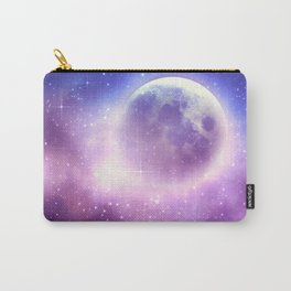 Starry sky background and full moon Carry-All Pouch