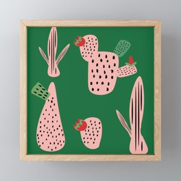 Mid Mod Cactus Green Framed Mini Art Print