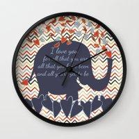 lucas david Wall Clocks featuring Lucas by Luscious Life Studios