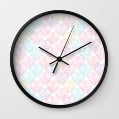 Patterns Of My Heart Wall Clock