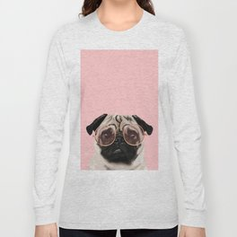 Intellectual Pug Long Sleeve T-shirt