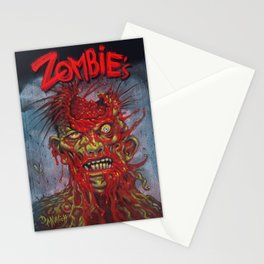 Zombie - With It's Brains Blown Out Stationery Cards