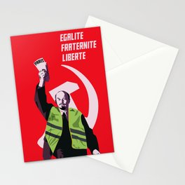 Lenin with  yellow vest Stationery Cards