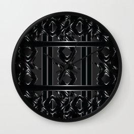 Darklit Metal Roses Wall Clock