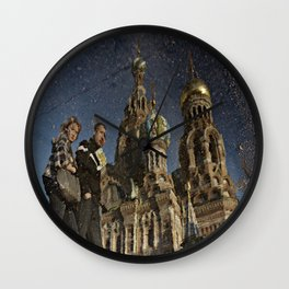 The Church of the Savior on Spilled Blood, St.Petersburg, Russia. Wall Clock