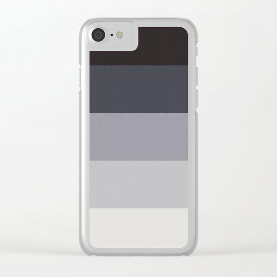 Retro Stripes Clear iPhone Case