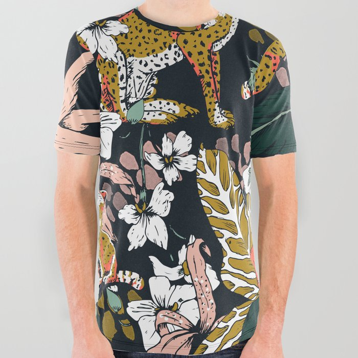 Animal_print_dark_jungle_All_Over_Graphic_Tee_by_mmartabc__Small