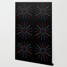A Twinkling Deathstar 80's Style Wallpaper