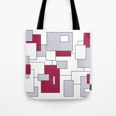 Squares - purple, gray and white. Tote Bag
